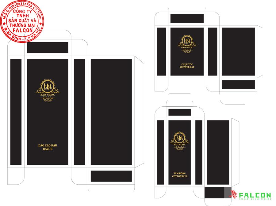 Thiết kế in ấn vỏ hộp bao bì đựng đồ dùng khách sạn