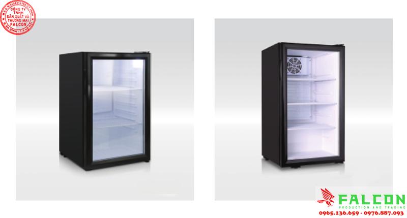 Tủ lạnh mini cánh gương trong phòng khách sạn resort