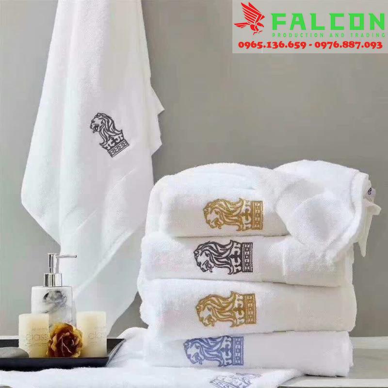 Thêu dệt in ấn logo lên khăn