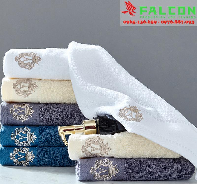 Mẫu khăn tắm, khăn mặt, khăn gội đầu thêu logo và nhuộm màu theo yêu cầu