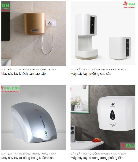 Máy sấy khô tay sử dụng trong phòng tắm