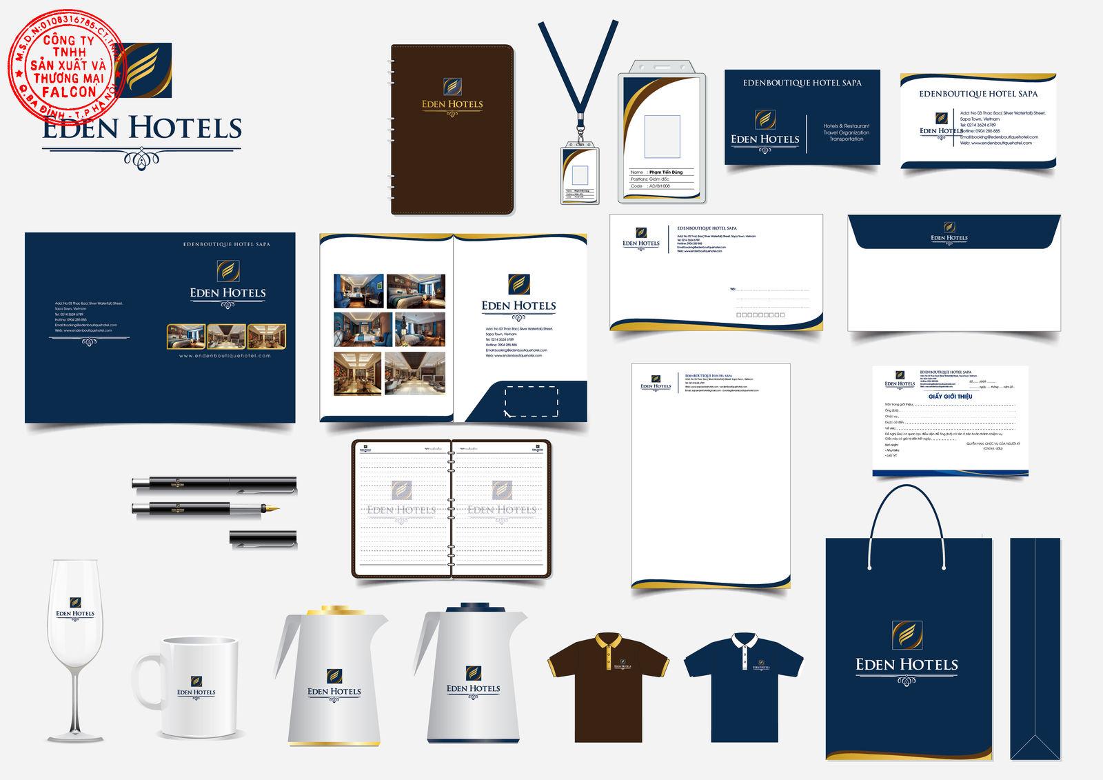 Thiết kế in ấn logo thương hiệu riêng cho khách sạn
